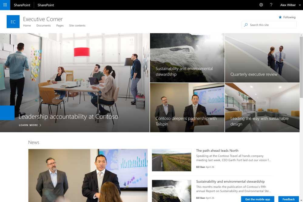 سایتهای ارتباطی در شیرپوینت 2019