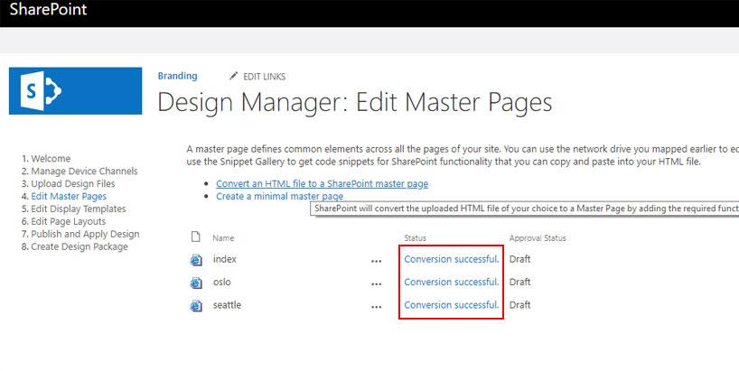 تبدیل قالب html به master page شیرپوینت