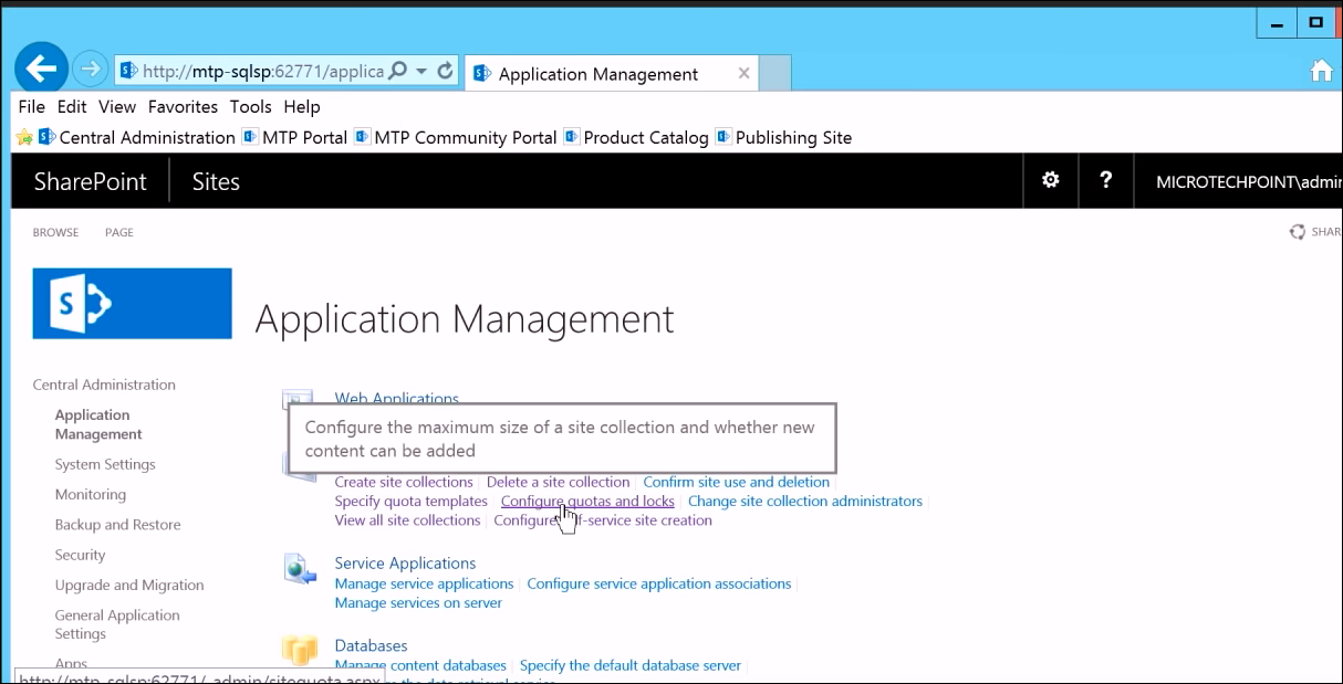 Quota Locks Site Collection SharePoint